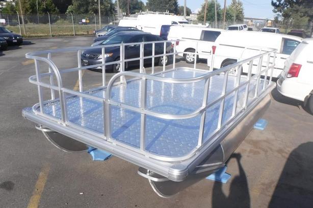 2020 Pontoon Aluminum Deck Boat 13.7 Foot