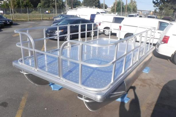 2020 Pontoon Aluminum Deck Boat 13.7 Foot