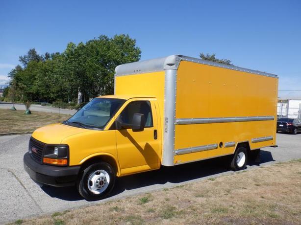 2014 GMC Savana G3500 16.5 Foot Cube Van With Ramp