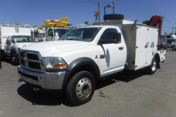2011 Dodge Ram 5500 Regular Cab Service Truck with a Crane 2WD Diesel