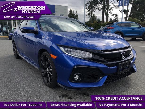 2018 Honda Civic Hatchback Sport Touring - Leather Seats - $117.63 /Wk