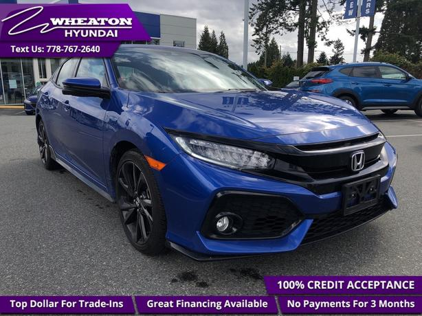 2018 Honda Civic Hatchback Sport Touring - Leather Seats - $117.63 /Wk