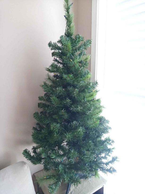 4 ft Christmas Tree with Built-in Lights