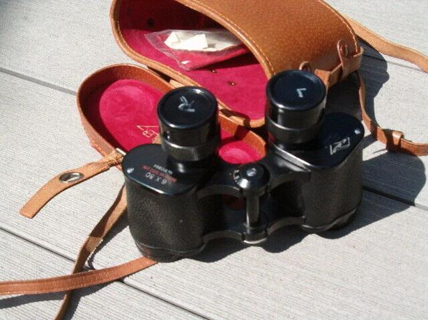 binocular with case Kurt Mulles , vintage