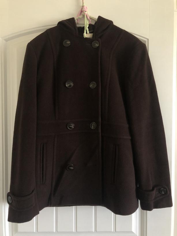 St John's Bay Women's Wool Dress Coat