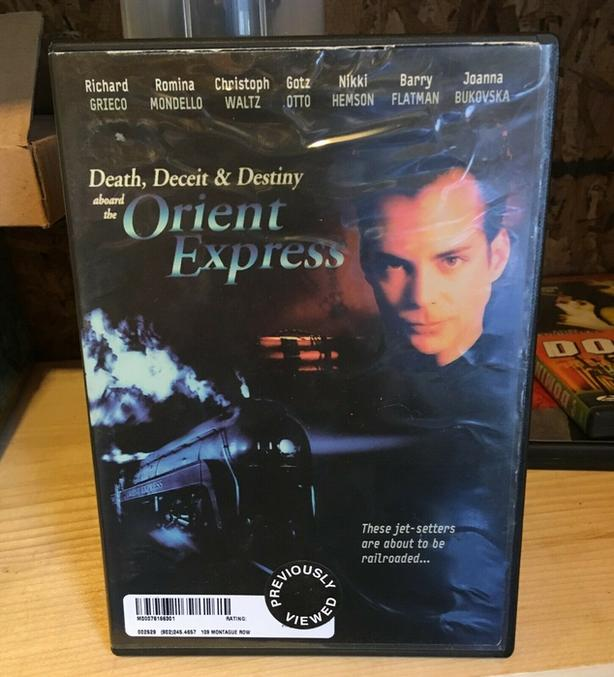 "RARE ""DEATH, DECEIT & DESTINY ABOARD THE ORIENT EXPRESS"" DVD"