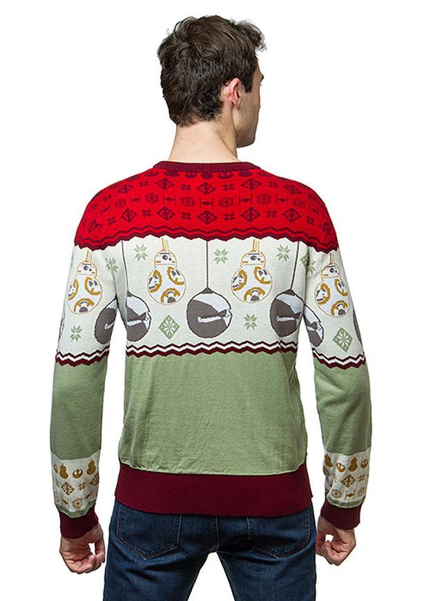 STAR WARS brand BB8 sleigh bells holiday sweater