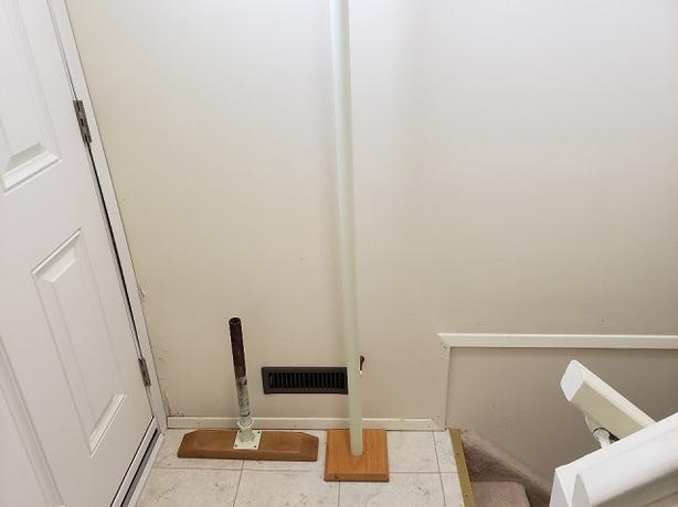 Floor to Ceiling Transfer Pole