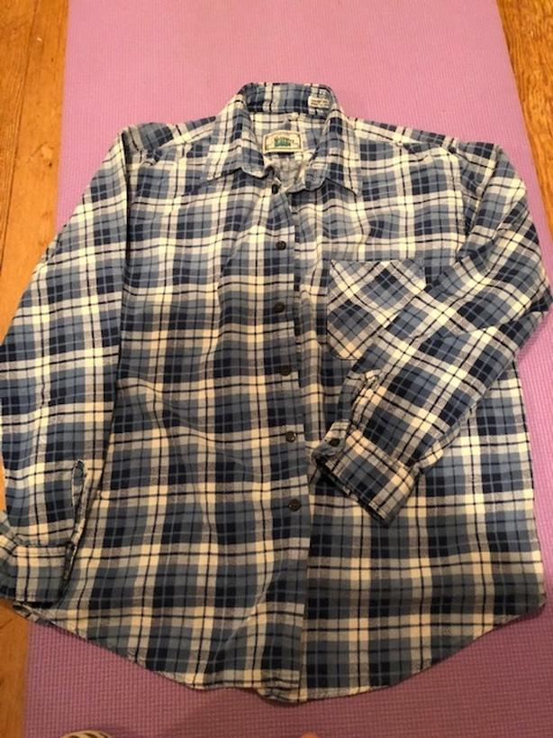 Blue Checked Shirt (size L)