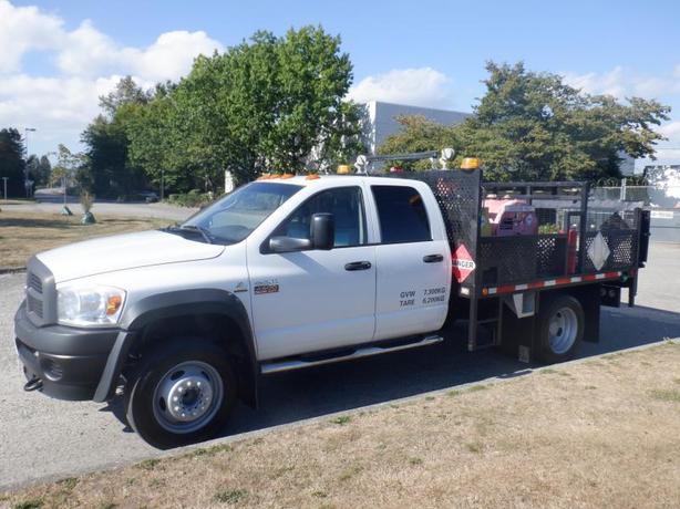 2008 Dodge Ram 4500 Quad Cab Dually 2WD Flat Deck Diesel with Diesel and Gas Pum