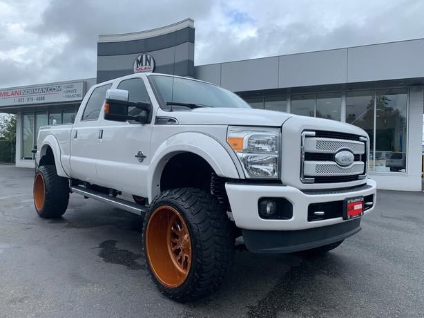 "Used 2015 Ford F-350 Platinum 4WD DIESEL LIFTED 24"" FUEL TUNED SHOW TRU Truck Cr"