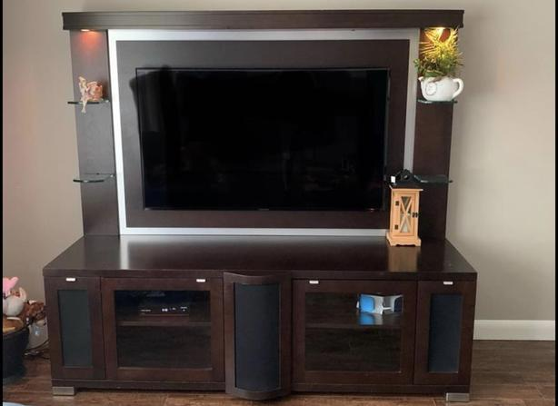 Cherry Wood Entertainment Unit - what a steal MUST GO!