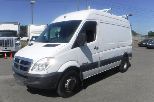 2008 Dodge Sprinter 3500 144-in. WB High Roof Dually Diesel Cargo Van with Ladde
