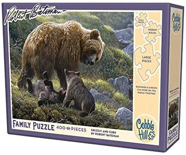 cobble Hill Grizzly and Cubs, 400-Piece