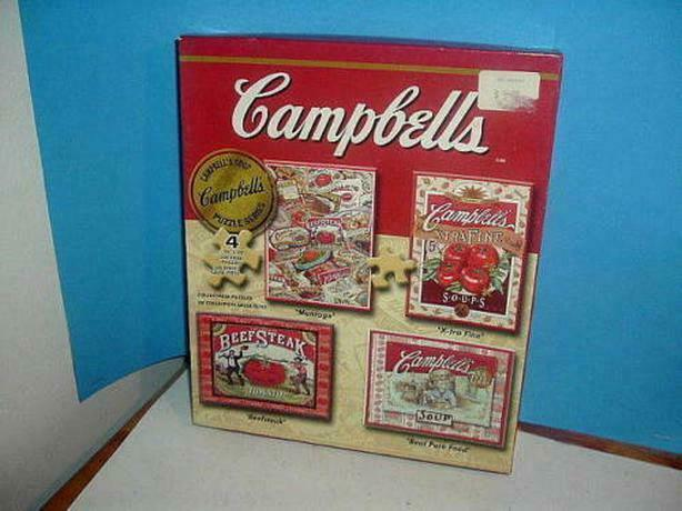 Cambell's soup  4 puzzles  collection