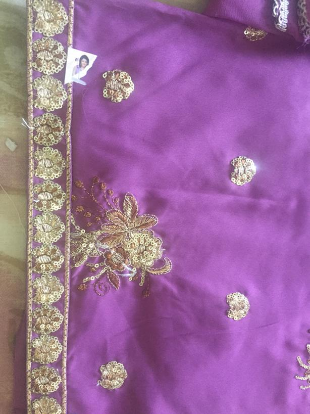 Fancy embroidery 3 piece suit unstitched moving sale
