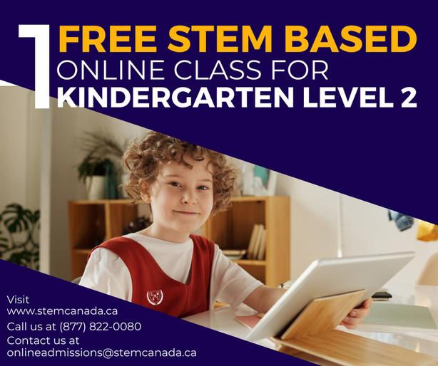 FREE online Pre-school & Kindergarten STEM programs level 2