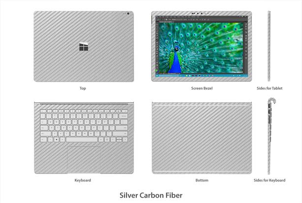 Microsoft Surface book 2 carbon fiber custom made skin