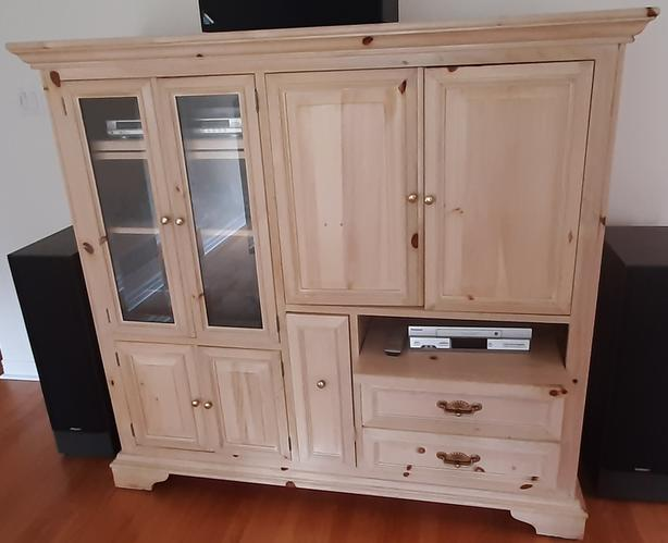 Stereo Hi-Fi Equipment and Oak Cabinet FOR SALE
