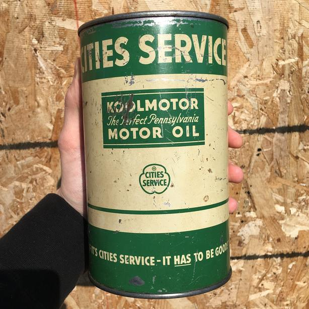 RARE 1930's VINTAGE CITIES SERVICE MOTOR OIL IMPERIAL QUART CAN