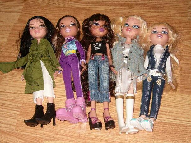 dolls bratz,all five dolls