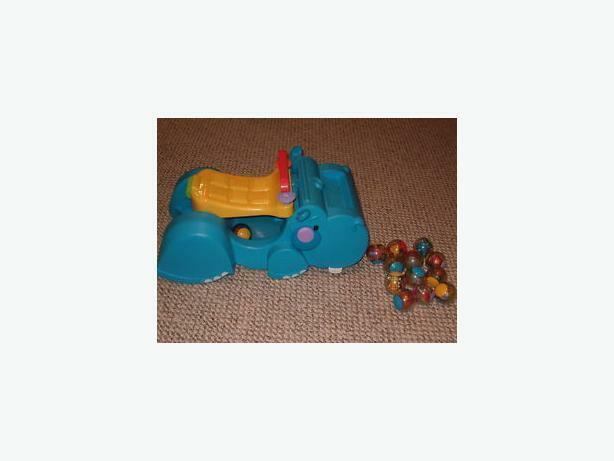 fisher price gobble n go hippo ride along push walker-