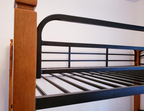 Twin bunk beds and twin bed