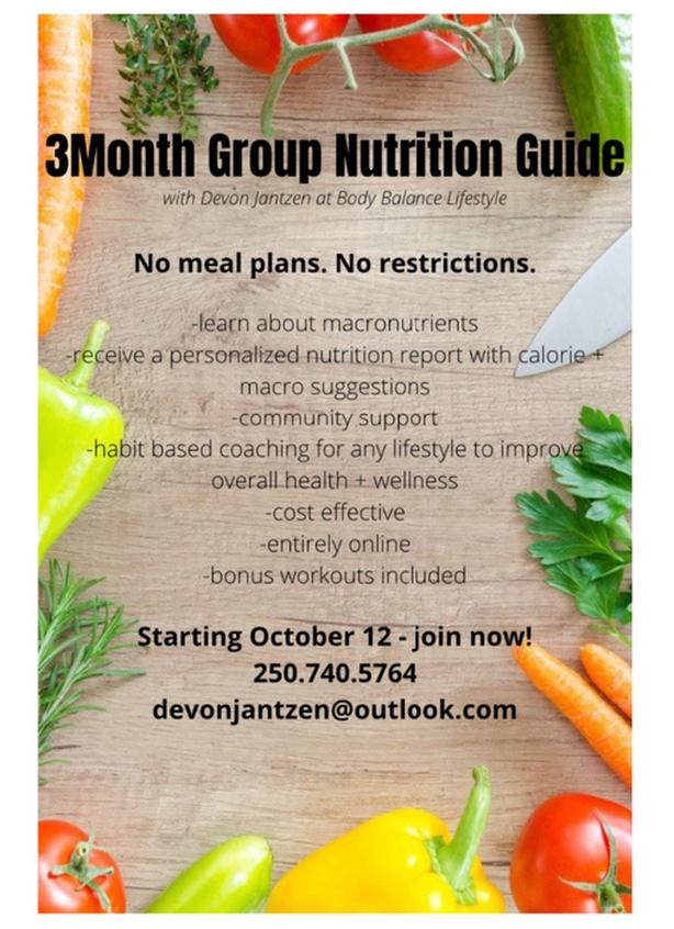 online group nutrition