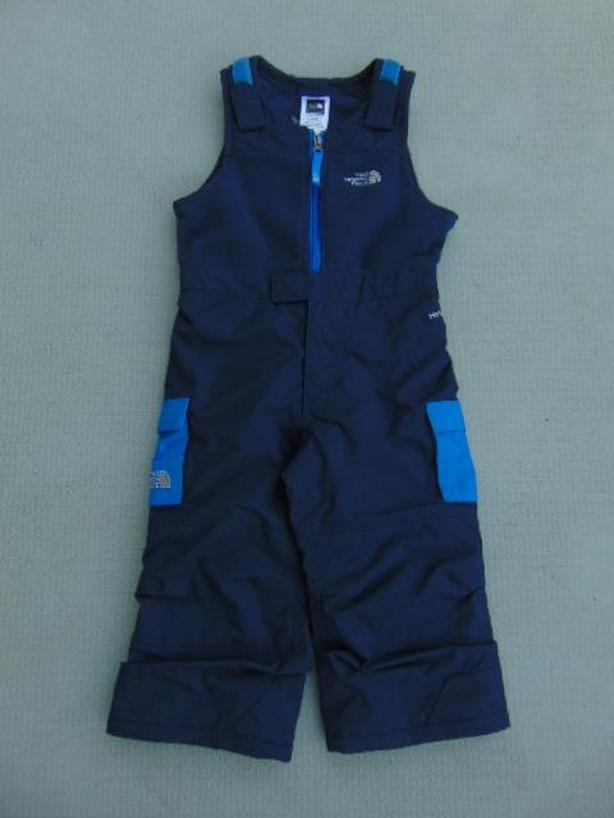 Snow Pants Child Size 2 The North Face Marine Blue With Fleece Bib New