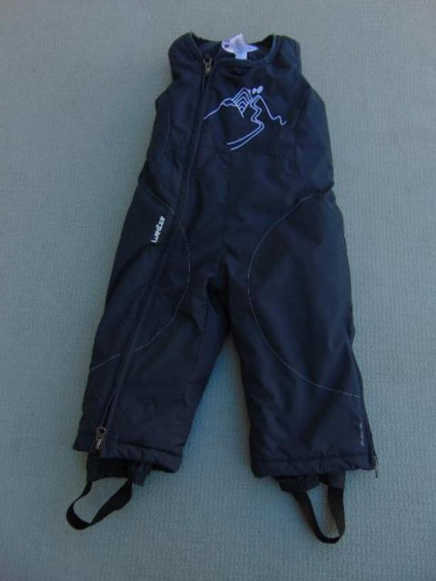 Snow Pants Child Size 2 Toddler Marine Blue With Bib and Boot Cuffs New