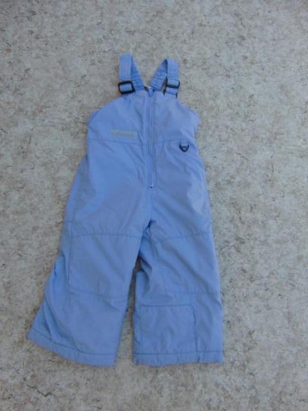 Snow Pants Child Size 3 Columbia Periwinkle Purple With Bib Excellent
