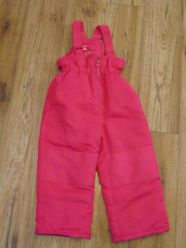 Snow Pants Child Size 3 Joe Fushia Pink With Bib