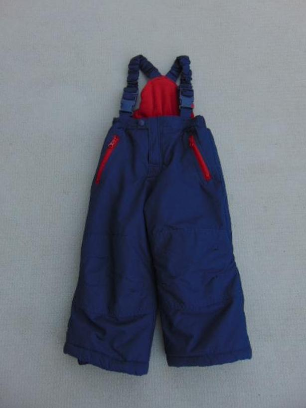 Snow Pants Child Size 3 Westbound Marine Blue Red With Bib