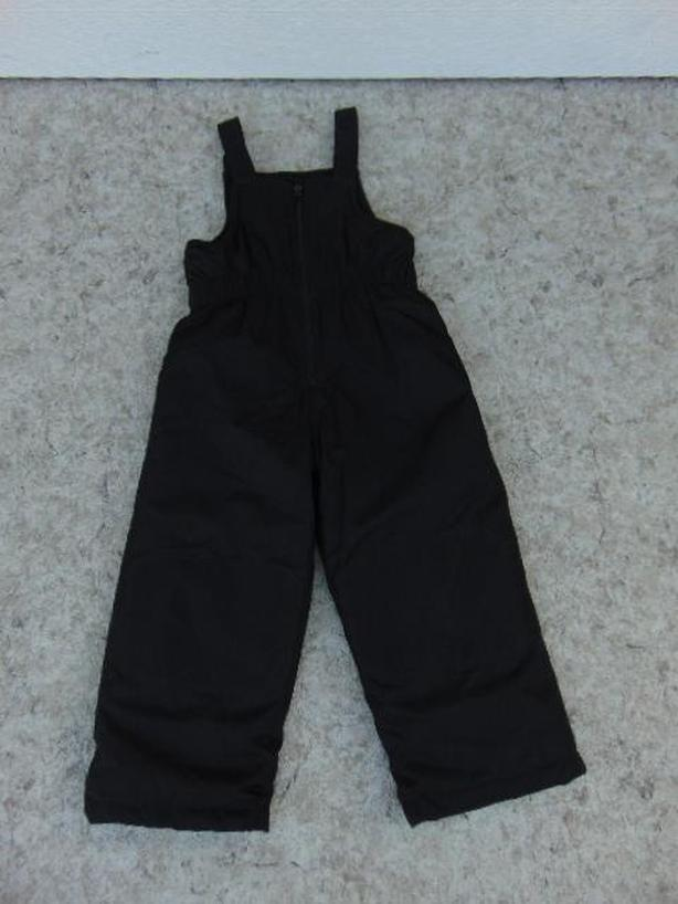 Snow Pants Child Size 3 X Athletic Black With Bib Fleece Lined New Demo Model