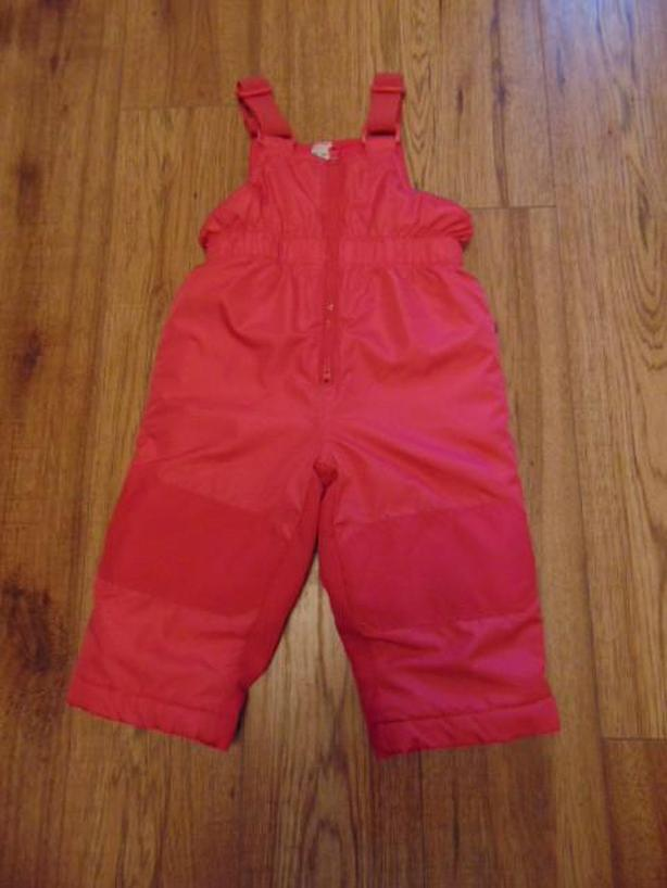Snow Pants Child Size 18 Month Baby Pink Micro Fleece lined with Bib
