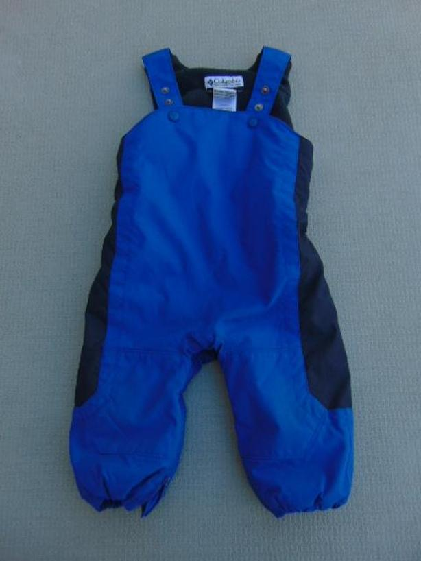 Snow Pants Child Size 18 Month Columbia Blue and Black With Micro Fleece