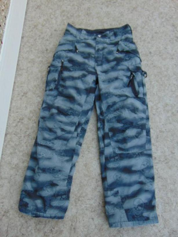 Snow Pants Child Size 18 Youth Firefly Grey With Skulls Minor Wear