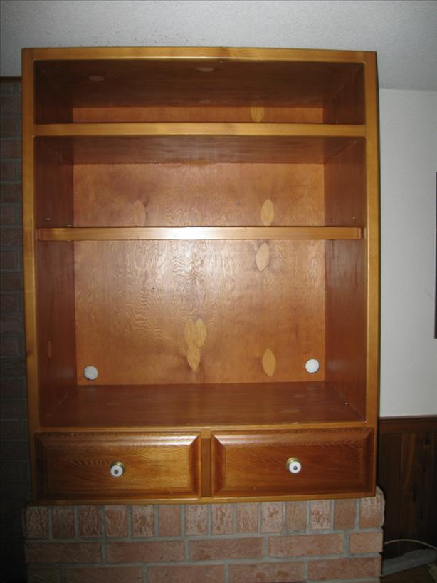 Knotty Cedar Entertainment Cabinet