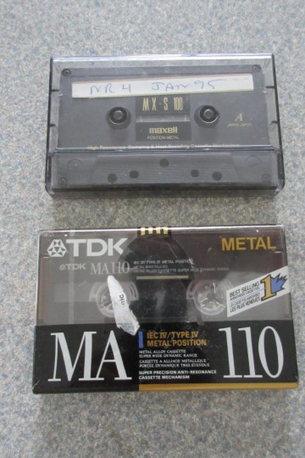 Maxell TDK Metal Cassettes