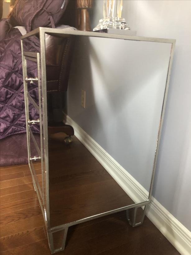mirror side tables