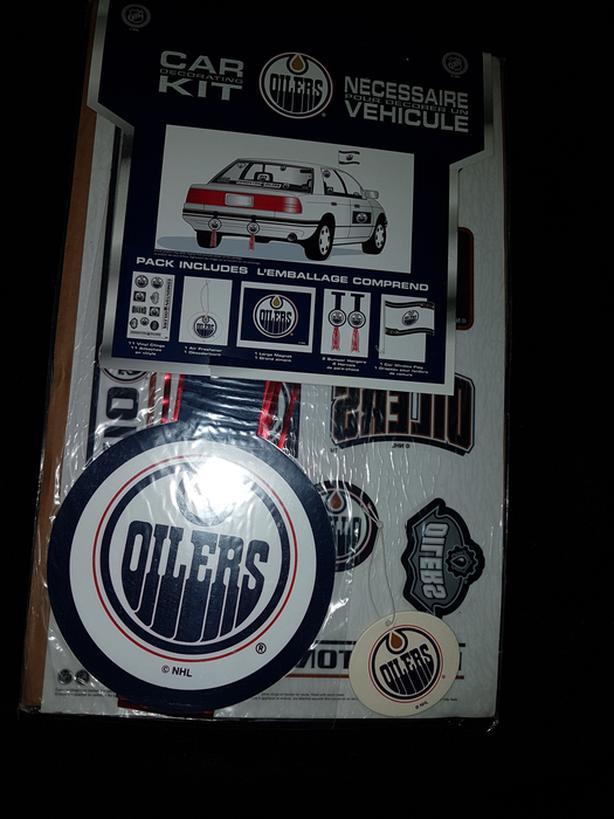 Edmonton oiler car decal kit