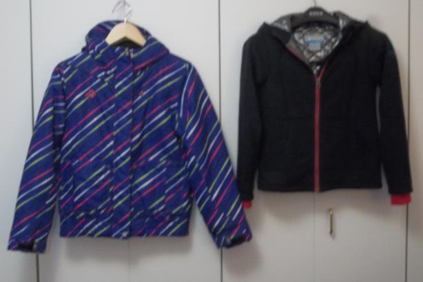 Girl JUPA winter jacket and Columbia Titanium sweatshirt size 12