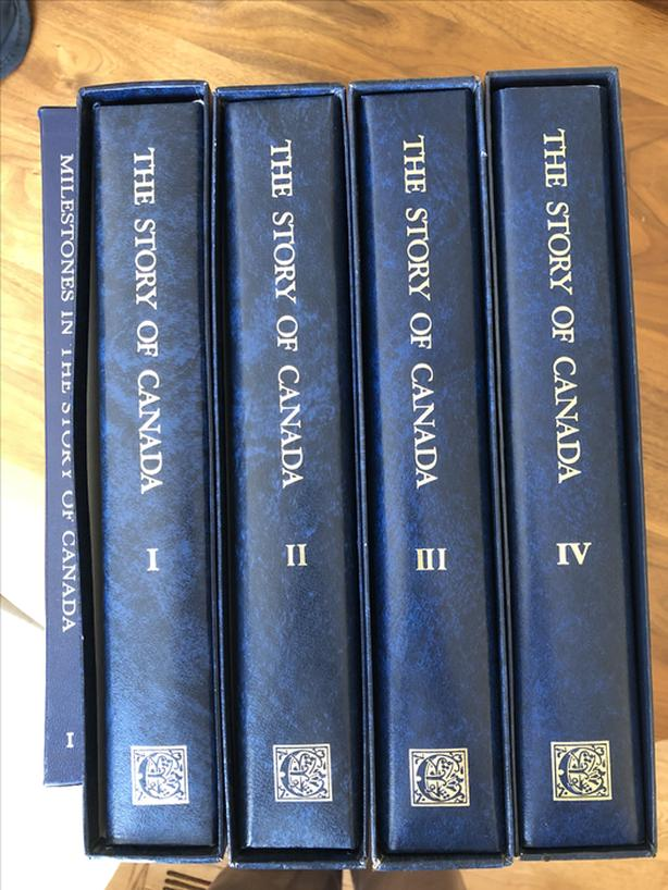 4 Vol Stamp collection - Story of Canada from the Excelsior Collectors Guild