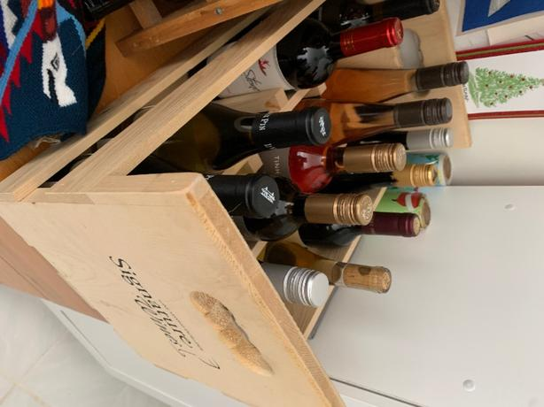 Wooden Wine Box with Dividers
