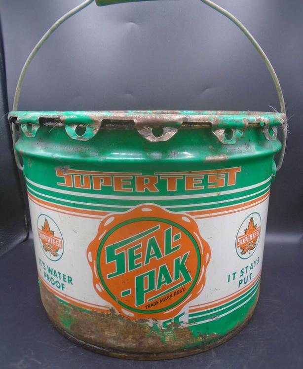 RARE 1950's VINTAGE SUPERTEST SEAL-PAK GREASE (25 LBS.) CAN
