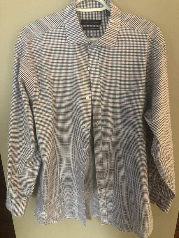 Mens Tommy Hilfiger Long Sleeve Button Shirt Large 32/33 Sleeve