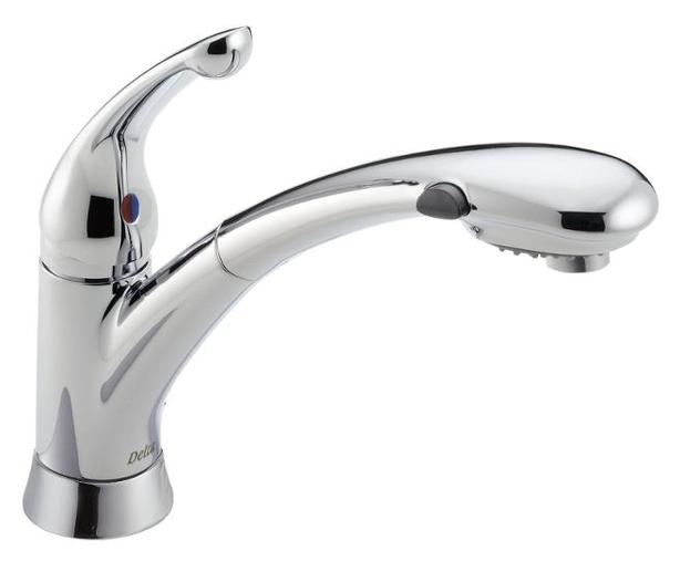 Delta chrome pull-out kitchen faucet