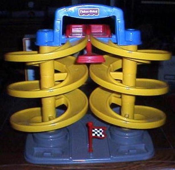 Fisher Price Spiral Speedway Track