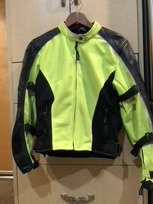 Women's S cordura and mesh high-vis motorcycle jacket
