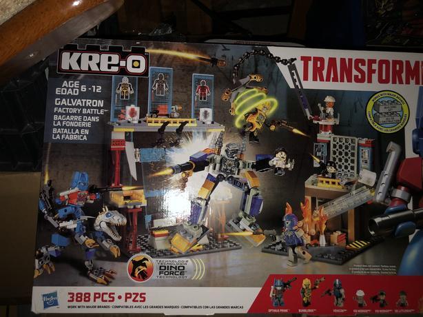 Galvatron factory battle transformers kreo building set